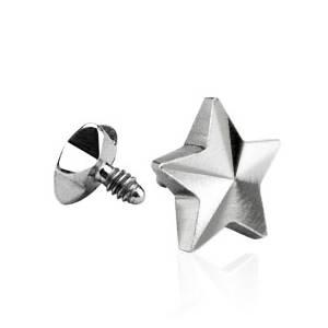 Microdermal - ozdobná část - hvězda 5 mm