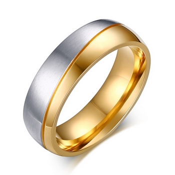 Dámsky oceľový prsteň, šírka 6 mm