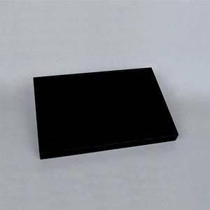 Čierne koženkové plato na prstene