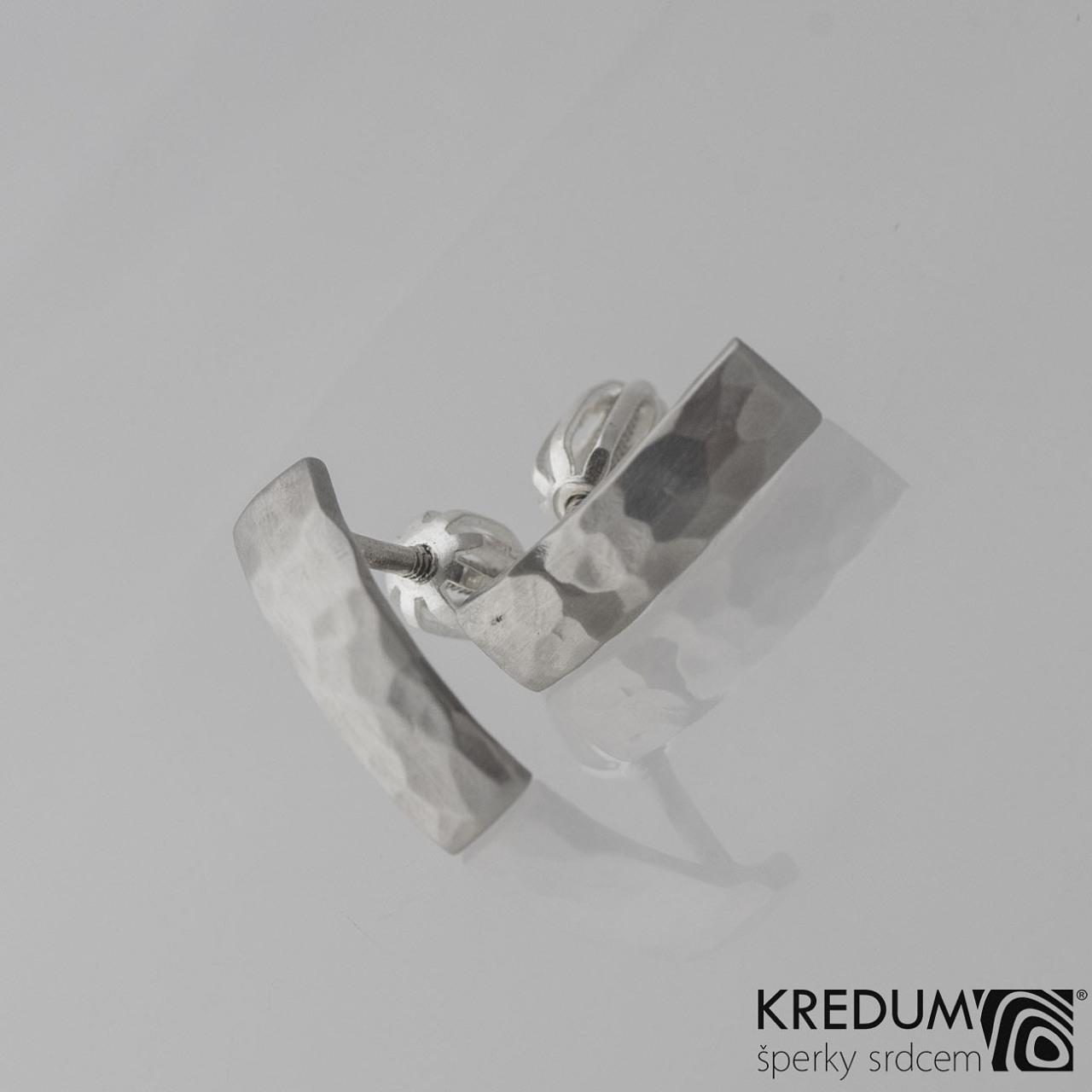 Kované nerezové naušnice Moon Draill KS2021
