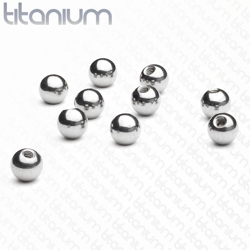 Náhradná gulička titan, 1,6 mm, priemer 5 mm