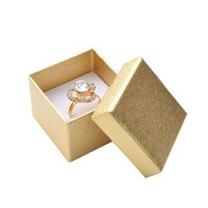 Darčeková krabička na prsteň alebo náušnice - zlatá
