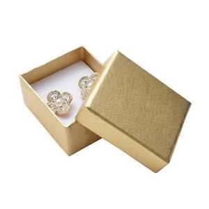 Darčeková krabička na náušnice - zlatá