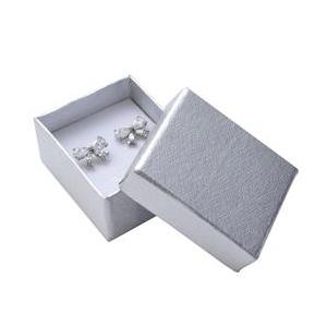 Darčeková krabička na náušnice - strieborná
