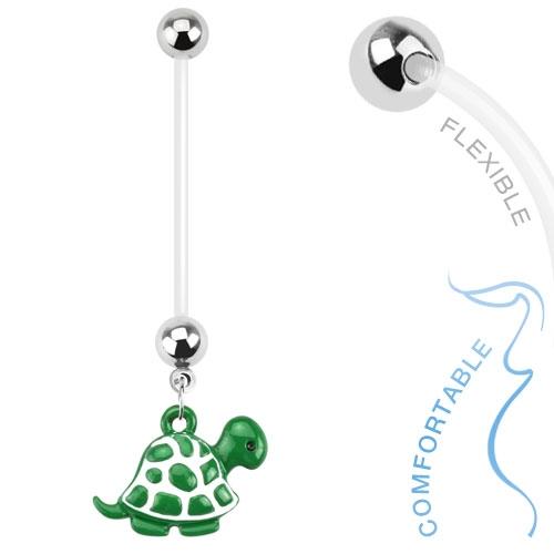 Těhotenský piercing do pupíku - želvička