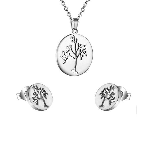 Set šperkov z chirurgickej ocele, strom života