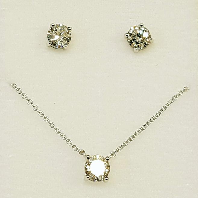 Set strieborný náhrdelník + náušnice