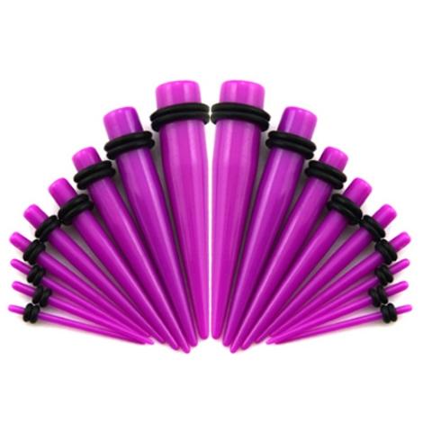 Akrylátový rozťahovák do ucha fialový