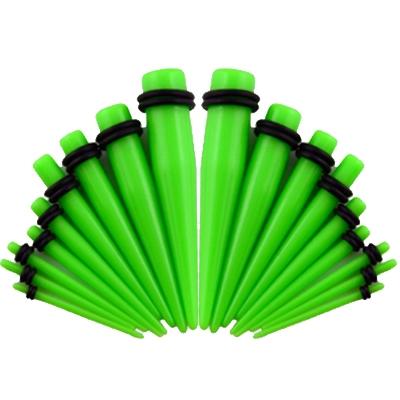 Akrylátový rozťahovák do ucha zelený