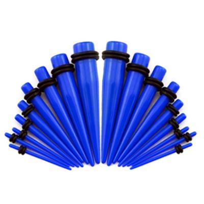 Akrylátový rozťahovák do ucha modrý