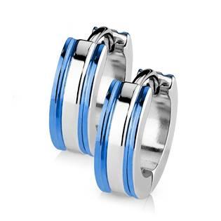 Šperky4U Ocelové náušnice - kroužky - OPN1411-B
