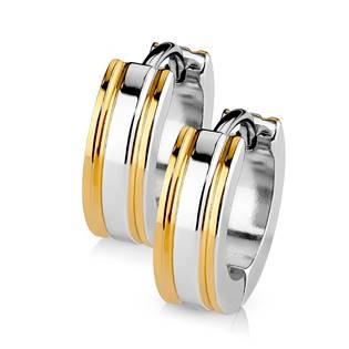 Šperky4U Ocelové náušnice - kroužky zlacené - OPN1411-RD