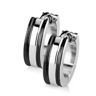 Šperky4U Ocelové náušnice - kroužky - OPN1411-K