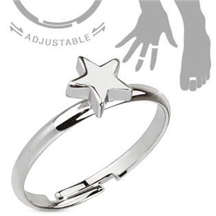 Prsten na nohu s hvězdou