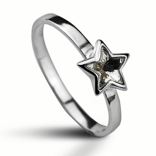 Strieborný prsteň s hviezdičkou Crystals from SWAROVSKI®