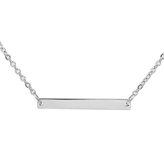 Oceľový náhrdelník s doštičkou