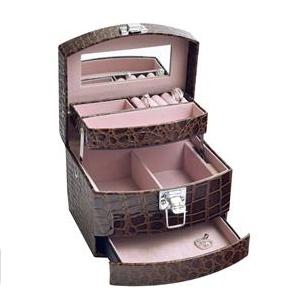 Šperkovnice - hnědá koženka SVK1064-BR