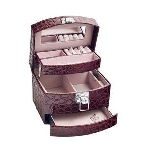 Šperkovnica - bordó koženka