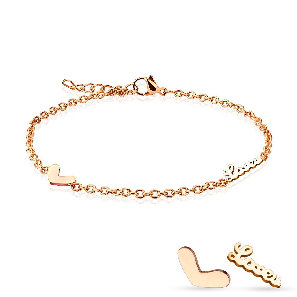 Dámský zlacený ocelový řetízek na ruku/nohu