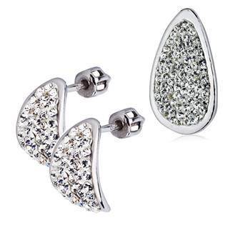 Šperky4U Stříbrná souprava náušnice a přívěšek s krystaly Crystals from Swarovski® - ZB55093-C