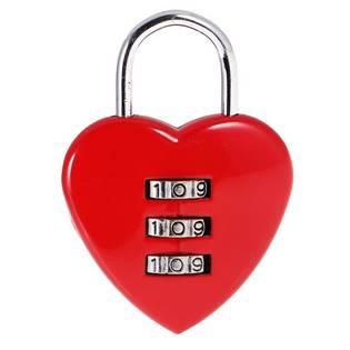 Zámeček lásky - srdíčko červené, rozměr 58 x 39 mm