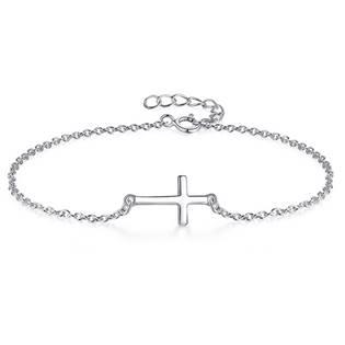 Stříbrný náramek - křížek ZB86192-ST