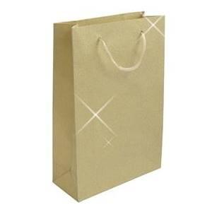 Šperky4U Velká dárková taška zlatá - KR1007-GD