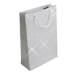 Veľká darčeková taška strieborná