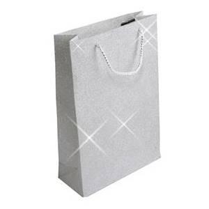 Velká dárková taška stříbrná