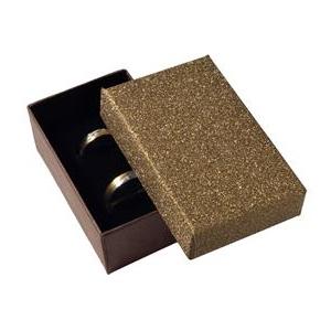 Dárková krabička na snubní prsteny, stříbřitě hnědá