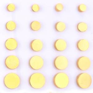 Zlacené ocelové náušnice kolečka, 8 mm