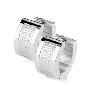 Šperky4U Ocelové náušnice - kroužky - OPN1243-ST