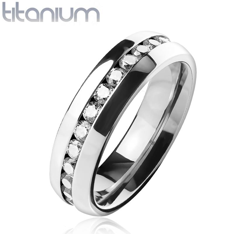 TT1042 Dámsky prsteň titán, šírka 6 mm