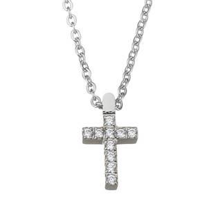Ocelový řetízek s přívěškem křížek