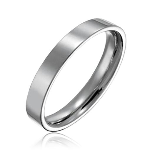 Hladký oceľový prsteň, šírka 3 mm