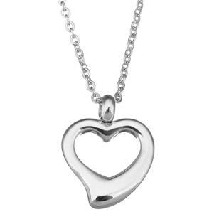 OPD0046 Ocelový řetízek s přívěškem - srdce