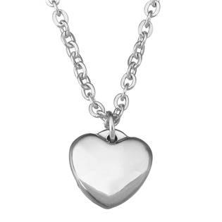 OPD0061 Ocelový řetízek s přívěškem - srdce