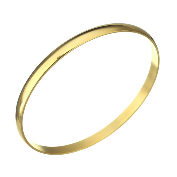 Dámsky oceľový náramok kruh pozlátený
