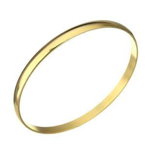 Dámský ocelový náramek kruh zlacený