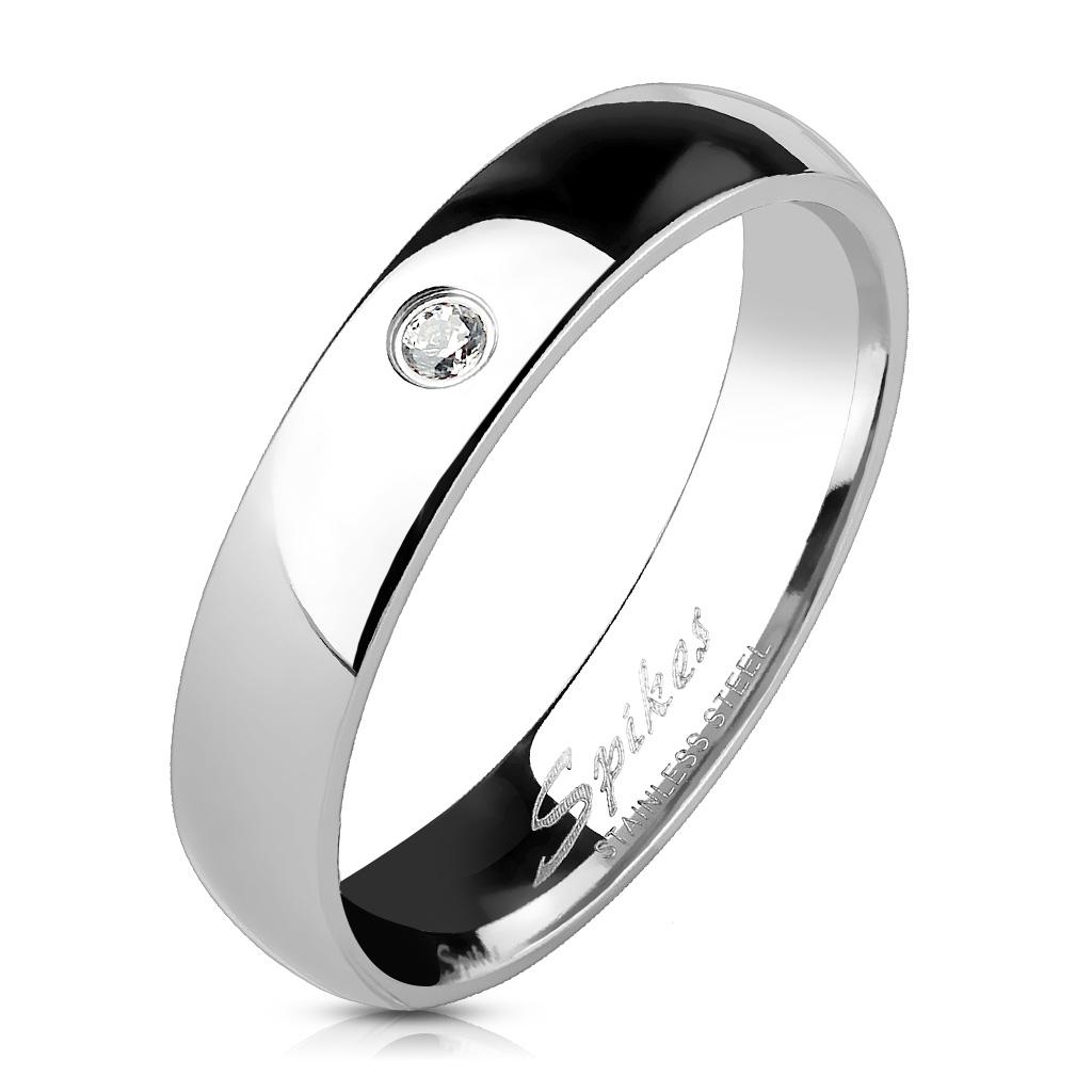 Oceľový prsteň so zirkónom OPR1404