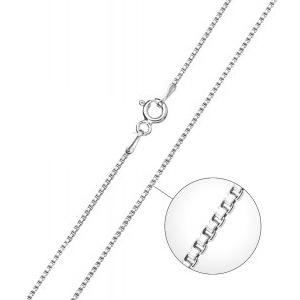 Strieborná retiazka - štvorcový, hr. 1 mm, dĺžka 50 cm