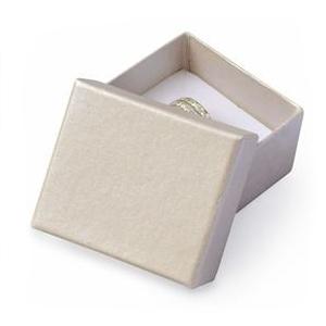 Darčeková krabička na prsteň alebo náušnice smotanová