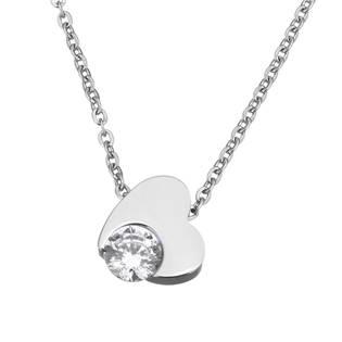 OPD0069 Ocelový náhrdelník se zirkonem