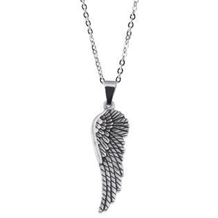 Ocelový řetízek s přívěškem andělské křídlo