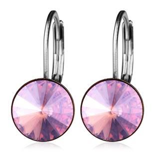 Ocelové náušnice s krystaly Swarovski®, ROSE MOONLIGHT