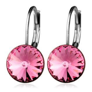 Ocelové náušnice s krystaly Swarovski®, LIGHT ROSE