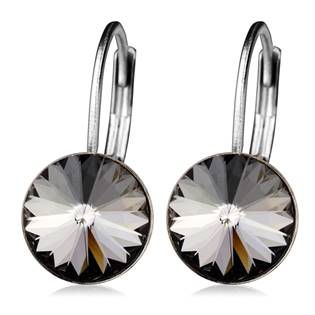 Ocelové náušnice s krystaly Swarovski®, SILVER NIGHT