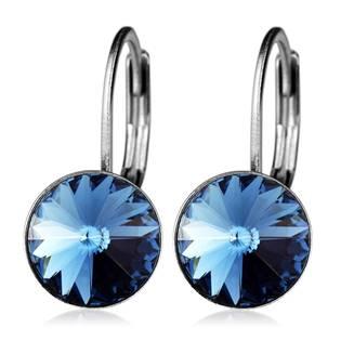 Ocelové náušnice s krystaly Swarovski®, BERMUDA BLUE