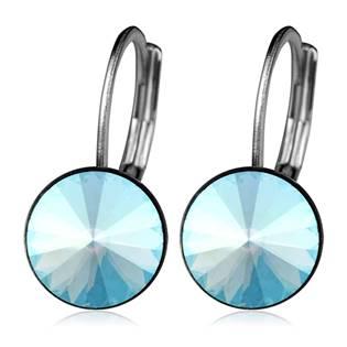 Ocelové náušnice s krystaly Swarovski®, BLUE SHADE