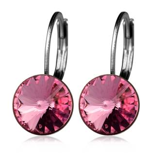 Ocelové náušnice s krystaly Swarovski®, BLUSH ROSE